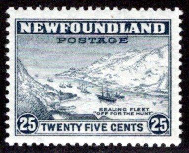 191, NSSC, Newfoundland, p12.5x12.75, 25c, MNHOG, F/VF, Sealing Fleet,Scott 197