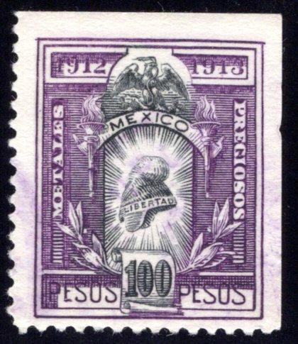 MP 72, Mexico, 100P, 1912-1913, Precious Metals / Metales Preciosos