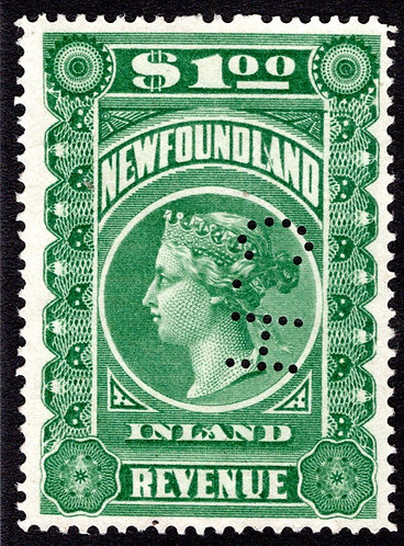 R6, NSSC, with Small C.H. cancel*,$1 Green, F/VF, Inland Revenue, 1898, QV