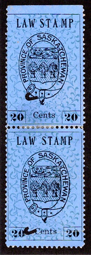 """SL3, 20c, used, vertical pair, wide spacing variety between """"TAM"""" on pos 3"""