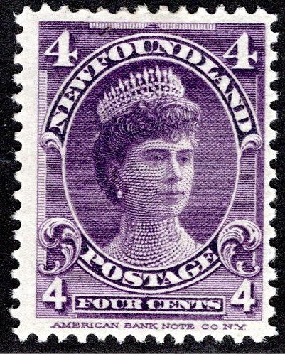 75, NSSC, Newfoundland, 4¢ Duchess of York, violet, MLHOG, VG/F,Faultness