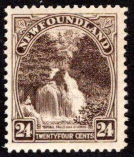 136, NSSC, Newfoundland, 24c, MNHOG, VF, Topsail Falls, Scott 144