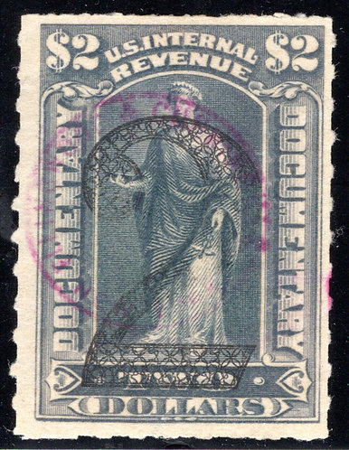 R191, $2, green, 1902, Documentary, Ornamental Numerals of Value