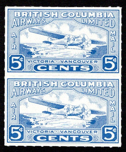 CL44, Canada, vert pair, British Columbia Airways, 5c,  (MNHOG), Private Airline