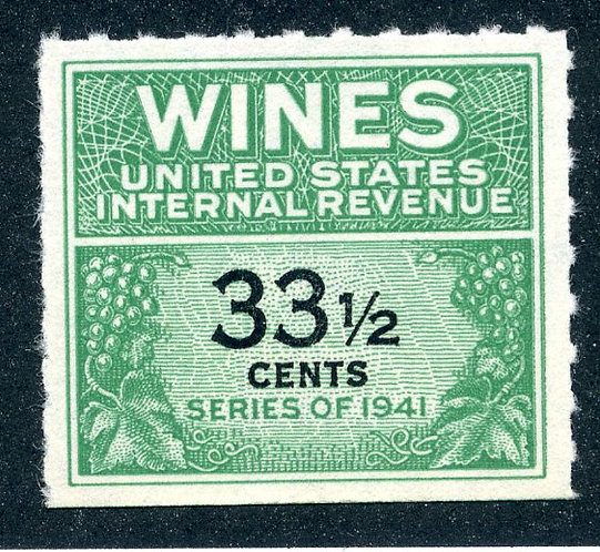 Scott RE188 - 33½cents - 1951-54 Wines - MNH - No Gum As Issued