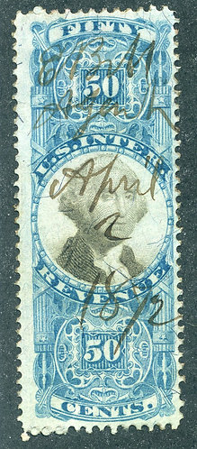 R115 - 50c - Blue and Black - US Second Issue Revenue