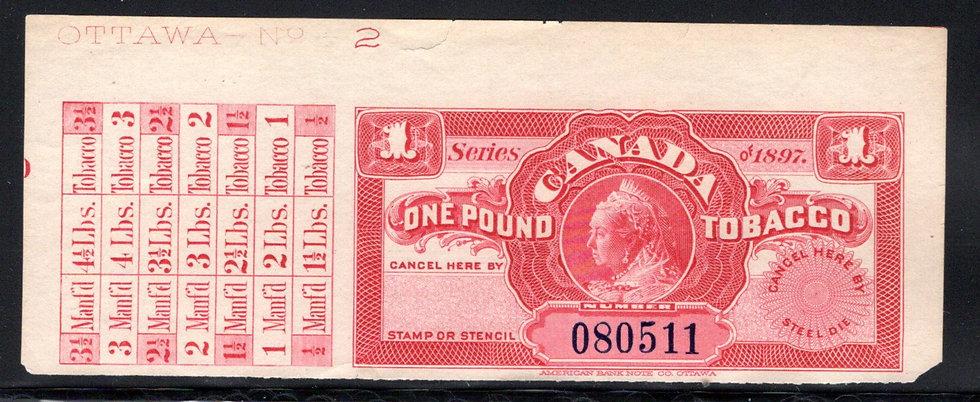 Ryan RM348a-Brandom M404 - Series of 1897 , 1 pound, margin imprint
