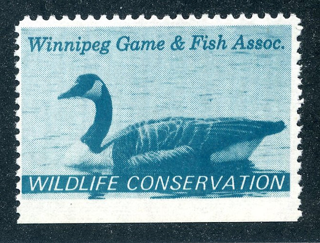van Dam MWM1 - Winnipeg Game and Fish - perf variety - 11.8x12.5x12.5x imperf