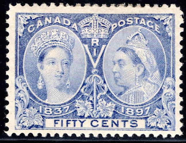 60ii Canada, Diamond Jubilee, 50c, MLHOG, pale / powder blue shade