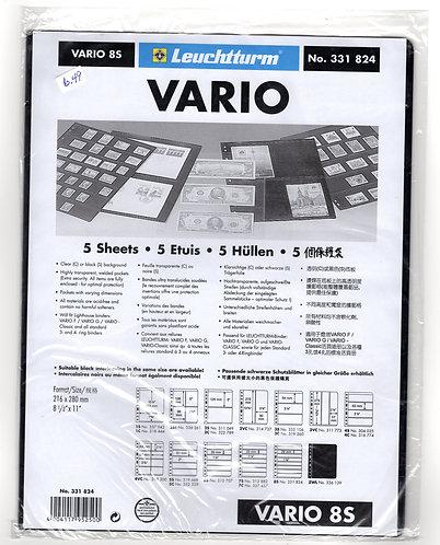 VARIO 8S, Stamp Sheets (8 divisions) BLACK