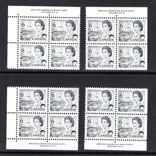 460 Scott, Matched Plate Block Set, Plate 2, Die I, DF, DEX, MNHOG, VF, Centenni