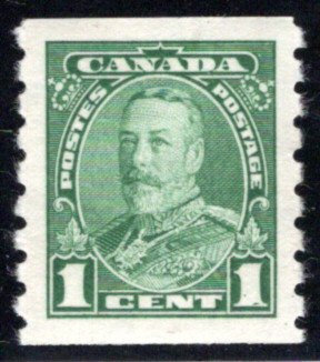 228, 1c, KGV Pictorial Coil, MLHOG, F/VF, 1935, Canada Postage Stamp