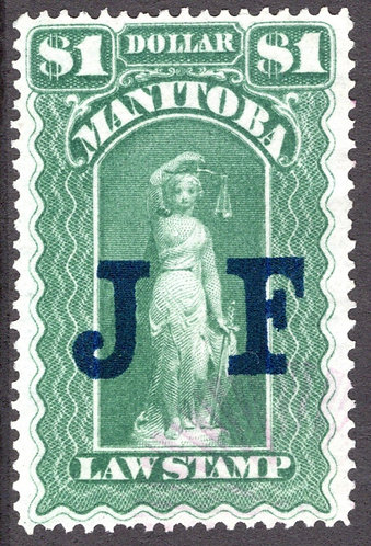 van Dam ML101 -$1 - VF/EF, used - JF o/p, large blue letters, Beautiful centerin