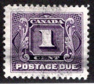 Scott J1, 1c, VF/XF, Used, 1st issue, Canada Postage Due /BOB