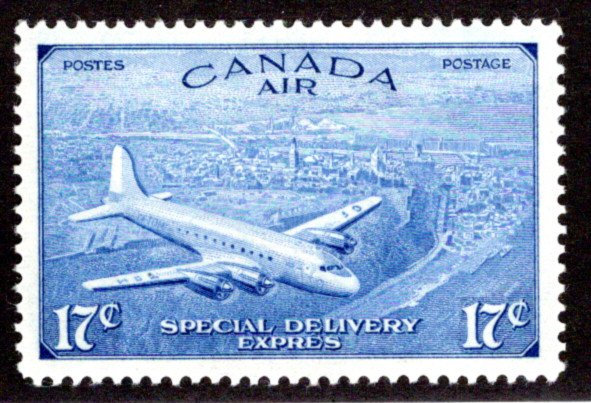 CE3, 17c, Special Delivery Air Mail Stamp, Incorrect Issue, MLHOG,VF/XF, Canada