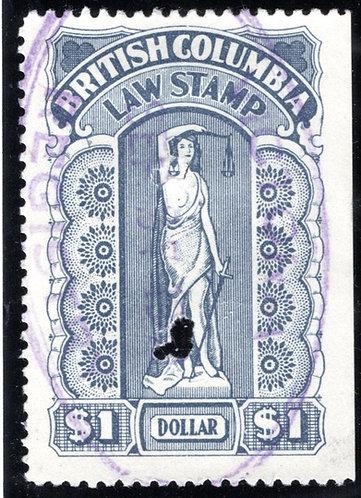 van Dam BCL35, British Columbia Law Stamp - $1 -Seventh Series - die II