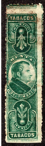 TA 41   T 21, Tobacco -1899 Morelos, p.11, Engraved, Green