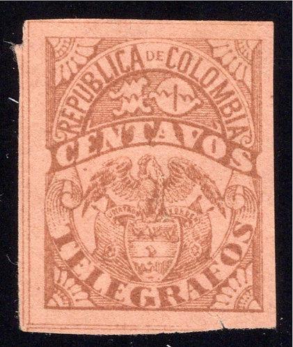1901, Colombia Telegraph, RH32, CE44, Type 22,1020 centavos, MLH