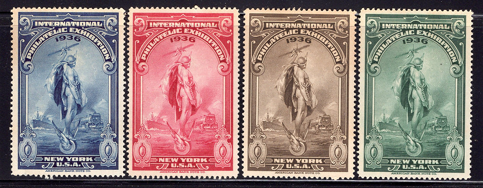 1936 APS Convention - National Philatelic Exhibition - MLHOG - New York