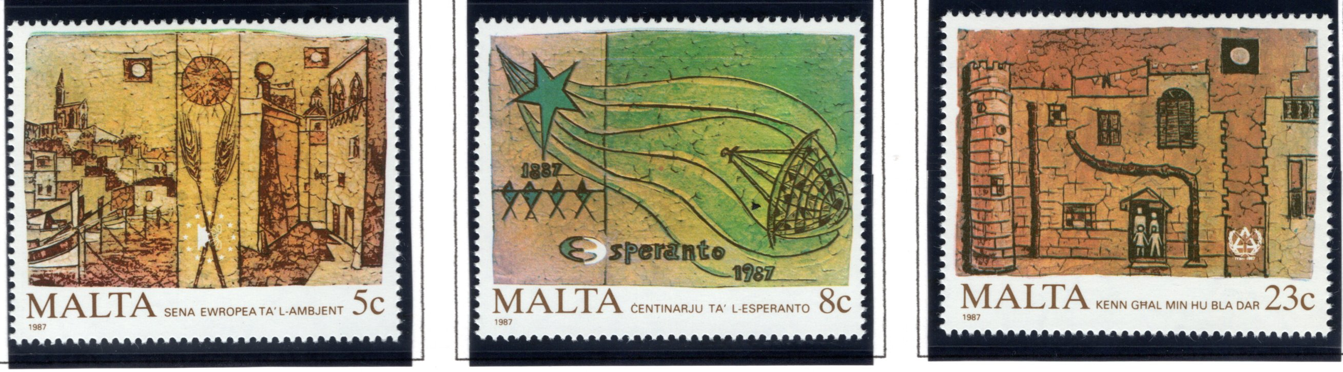 700-702 Malta, European Environment Year Stamp Set, 1987, MNHOG