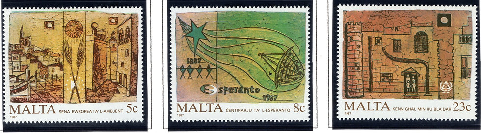 700-702 Malta, European Environment Year Stamp Set, 1987, MNHOG
