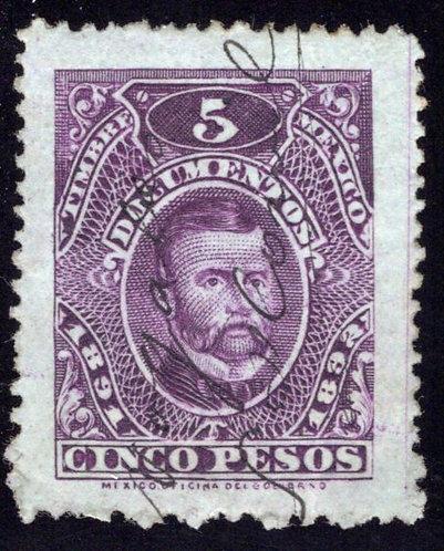 DO 188, Mexico, 1891-1892, 5P, Sebastian Lerdo de la Fuente, Documentary