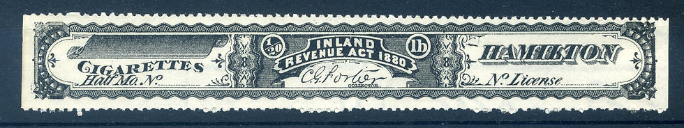 Ryan RC1an - 1880 Cigarette Stamp / Strip - watermarked