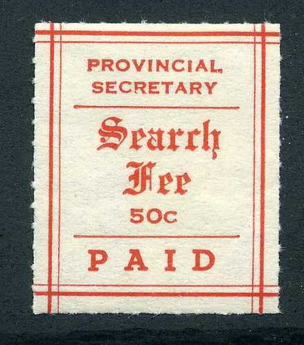 MS6 - 50¢ Manitoba Search Fees - MNH - C/V$37.50 incl 25% premium for MNH