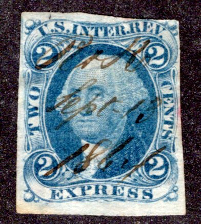 R9a - 2c - Express Revenue - Blue - imperf - ms cancel