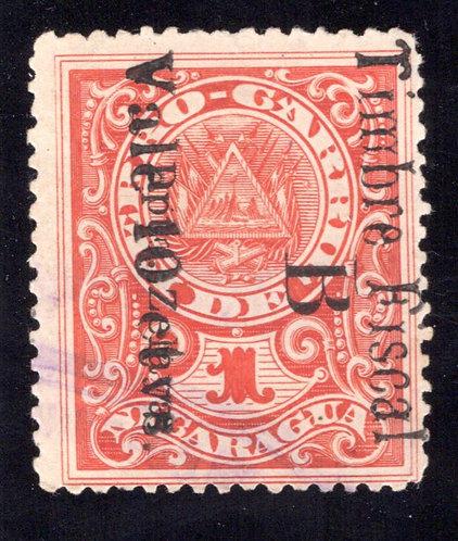 """Bluefields, Nicaragua, overprinted with """"B Dpto. Zelaya"""""""