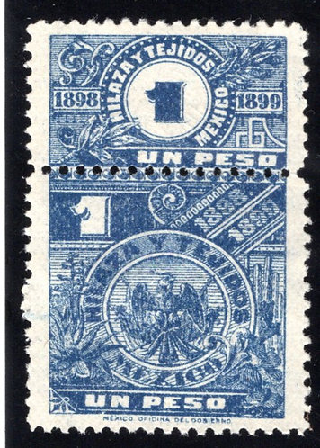 HT 36A, 1P, MNH, NG, 1898-1899, Coat of Arms, Beautiful Embossed Pattern,Hilaza