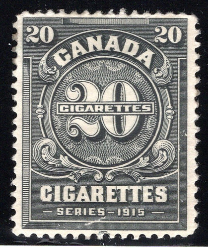 Ryan RC242 - Brandom C315 - Series 1915, 20 Cigarettes, MNH, spotty gum, 1926