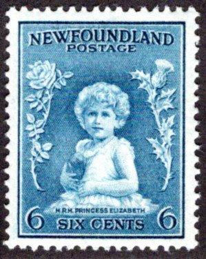 183, NSSC, Newfoundland, 6¢ Princess Elizabeth, dull blue, MLHOG, VF/EF