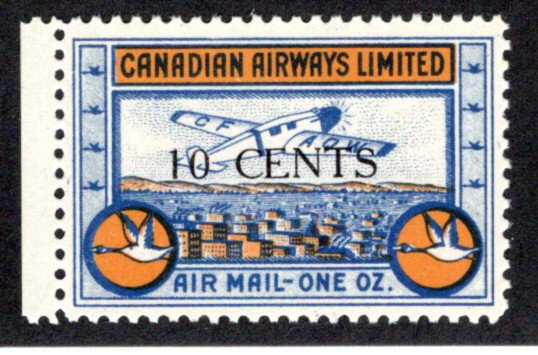 CL52, Canada, 10c surcharged, Canadian Airways Ltd.,MNHOG, 1932, Private Commer