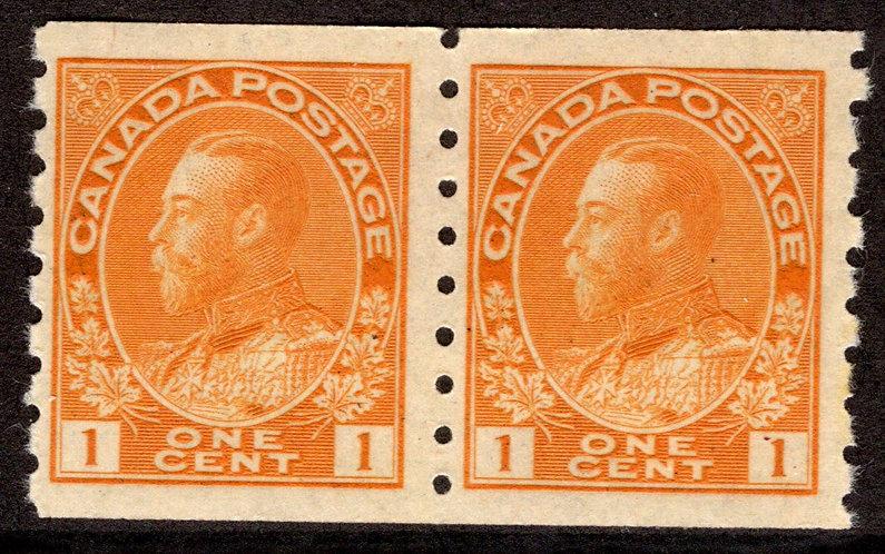 126 Scott - 1c orange yellow, dry printing, Die II, F/VF, MNHOG, 1915-24