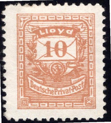 Germany Private Post, Lloyd 10, MHNG, Deutsche Privat Post