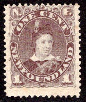 41b, NSSC, Newfoundland, Canada, 1c, MNHOG (spotty), Prince of Wales, Scott 43