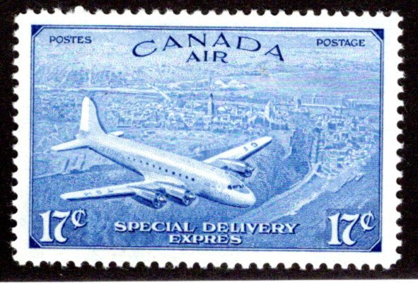 CE3, 17c, Special Delivery Air Mail Stamp, Incorrect Issue, MLHOG, VF/XF Canada