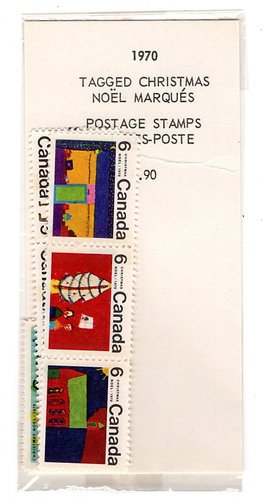 1970, Canada Christmas Stamps Packet, MNHOG, C/V $7.20