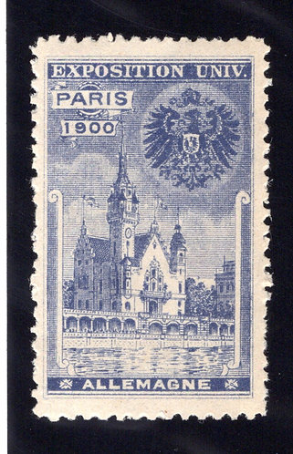 Universal Exposition GERMANY Exhibit poster stamp/label MNHOG