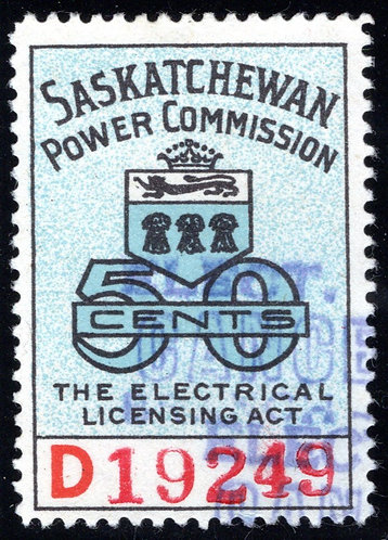 "van Dam SE21, Saskatchewan Power Commission,1945 ""D"" Series, F, 4mm#, CARIS: SKE"