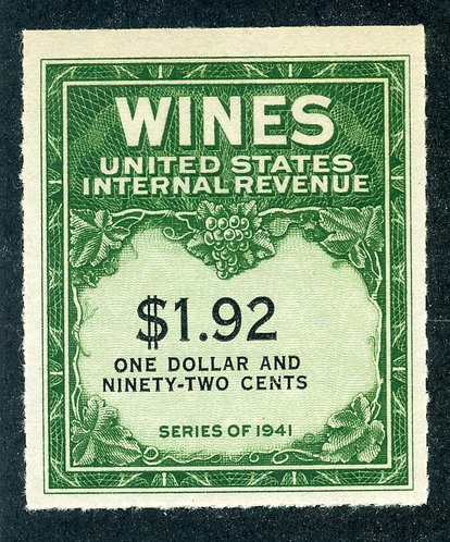 Scott RE152 Series of 1941 - $1.92 - MNH - Wine Stamp - No Gum As Issued
