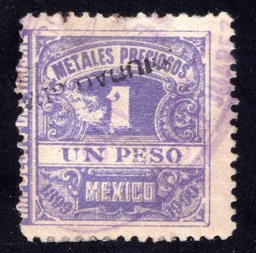 MP 18, Mexico, 1P, 1899-1900, Precious Metals / Metales Preciosos