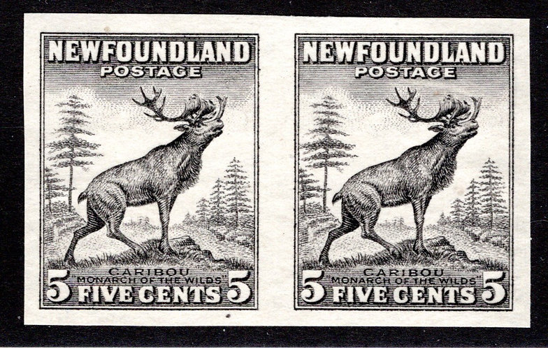 181l, NSSC, Die I, Caribou, 5c, IMPERF, NGAI, trial color black
