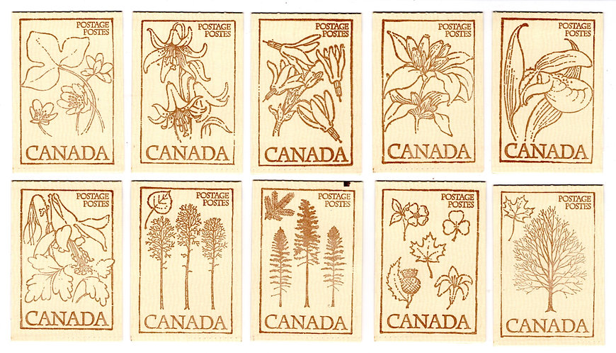 BK77 (Full Set of 10 Cover Designs), 1977-79, 781a x 2 + 713a x 4, Canada