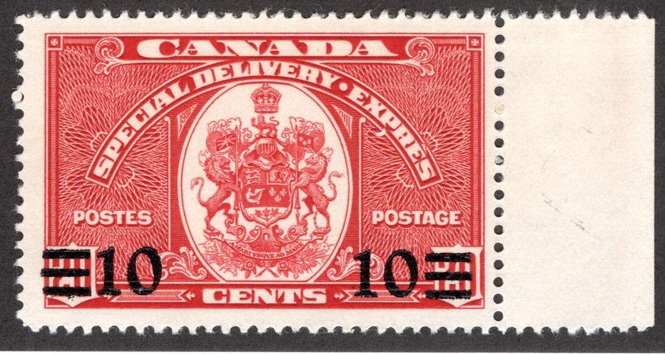E9 - 10c -Special Delivery - VF - MLHOG, Canada BOB Stamp