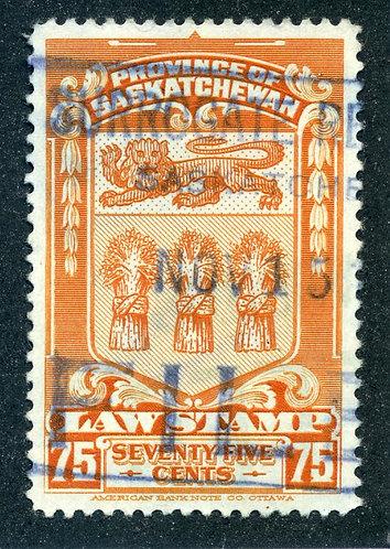 van Dam SL50 -Used- 75c - 1938 Saskatchewan Law