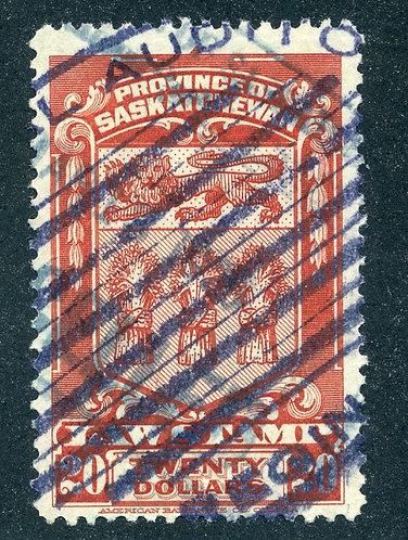 van Dam SL44 - CARIS SKL44 - Used- $20 - 1908 Saskatchewan Law