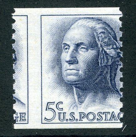 1229 - misperf - 5¢ Washington - MNH - EFO