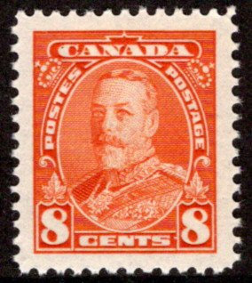222, Scott, Canada, MNHOG, XF/SUPERB, 8c, KGV Pictorial Issue